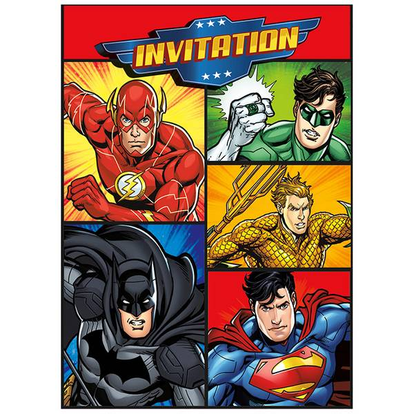 Bilde av Justice League Invitasjoner
