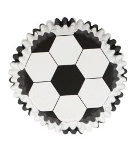 Bilde av Fotball muffinsformer variant 3, 48stk