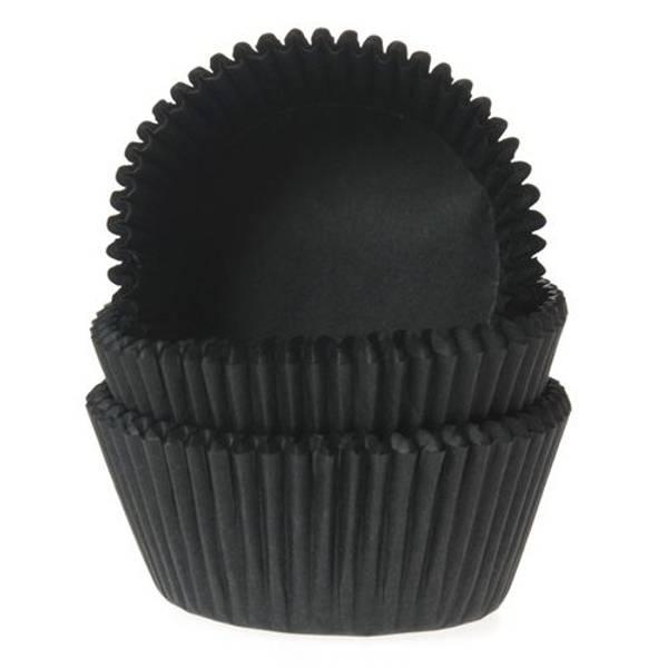Bilde av Svarte, Mini Muffinsformer, 60 stk