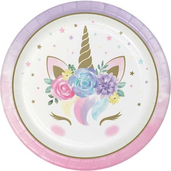 Bilde av Unicorn Baby, Tallerker, 8 stk