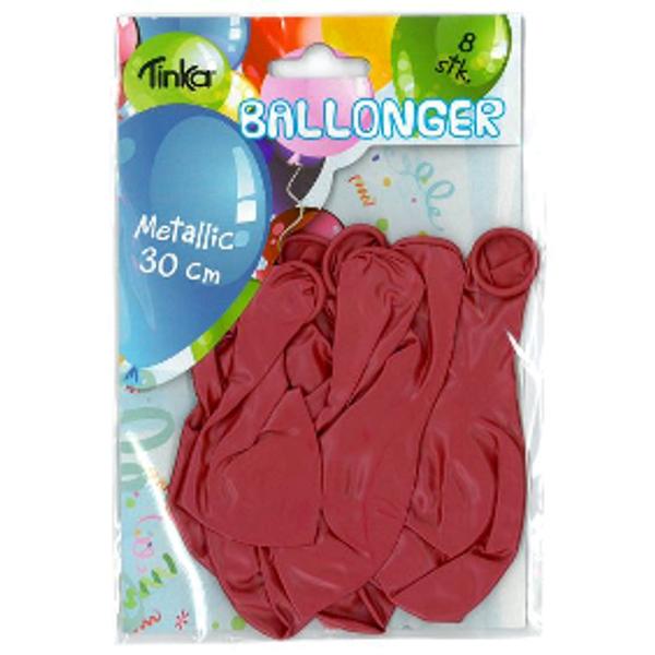 Bilde av Metallic Ballonger Rød, 8 stk