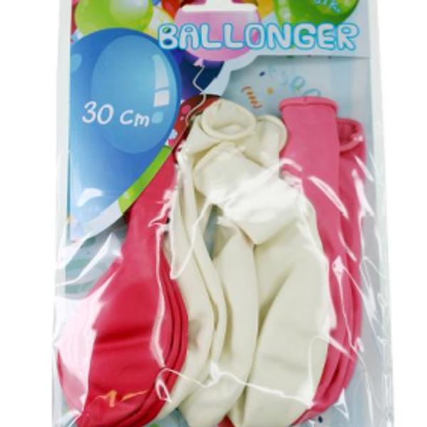 Bilde av Ballonger Hvit/Rosa, 10 stk