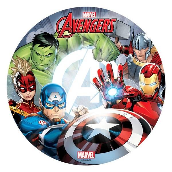 Bilde av Avengers, Kakebilde, 3,Sukkerpapir, 20 cm