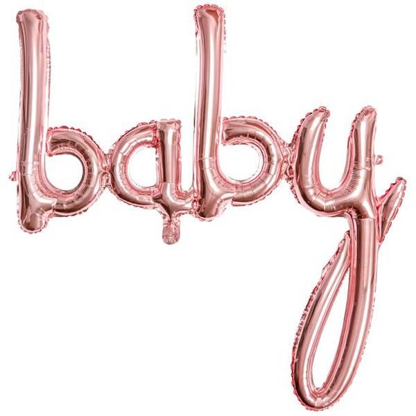 Bilde av Rosegull, Baby, Folieballongbanner