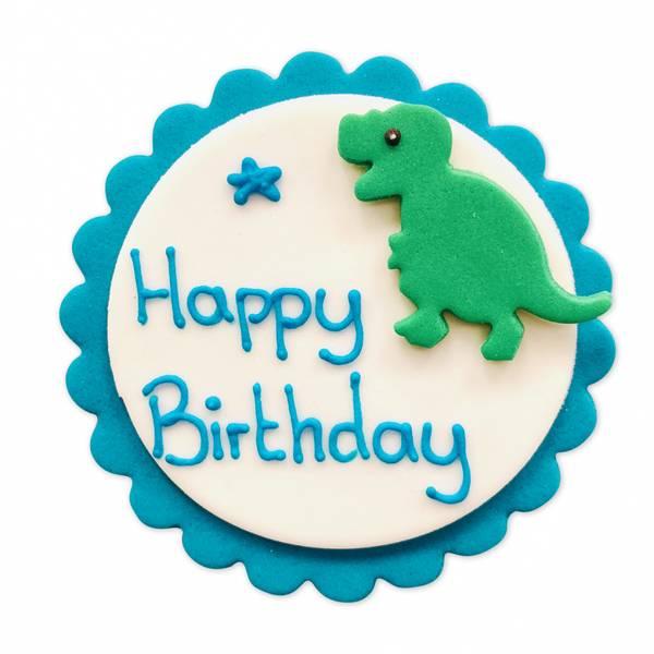 Bilde av Sukkerpynt, Dinosaur Happy Birthday