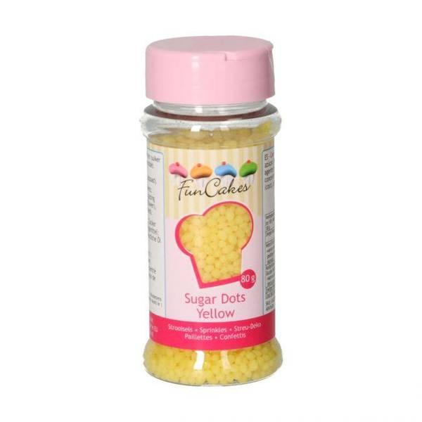 Bilde av Strøssel Sugar Dots Yellow 80g