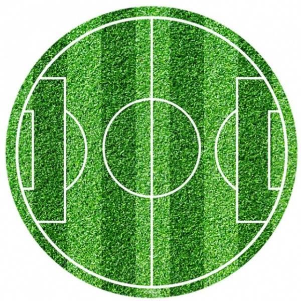 Bilde av Fotballbane, rundt, Kakebilde , Sukkerpapir, 20 cm