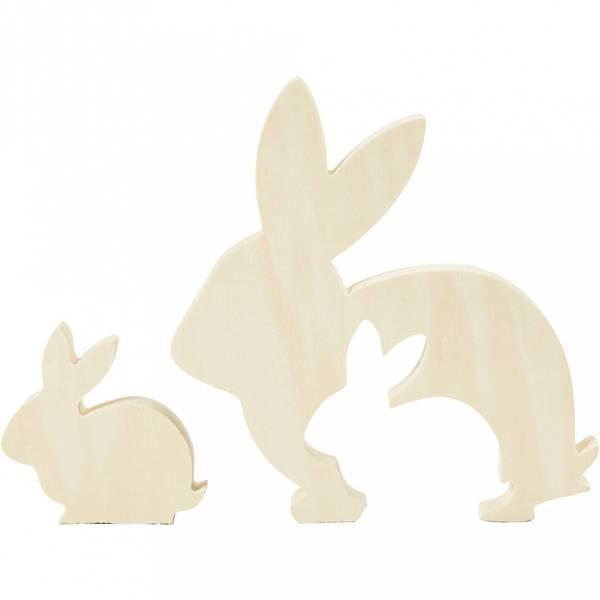 Bilde av Hare med Baby, Kryssfiner
