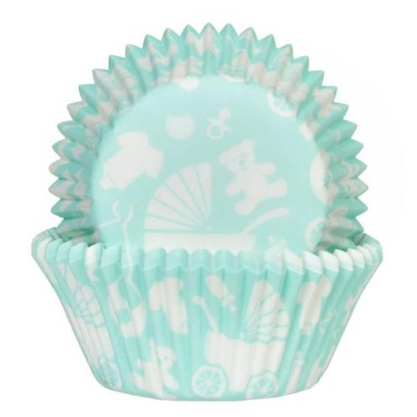 Bilde av Mint Blå Baby, Cupcakeformer, 50stk