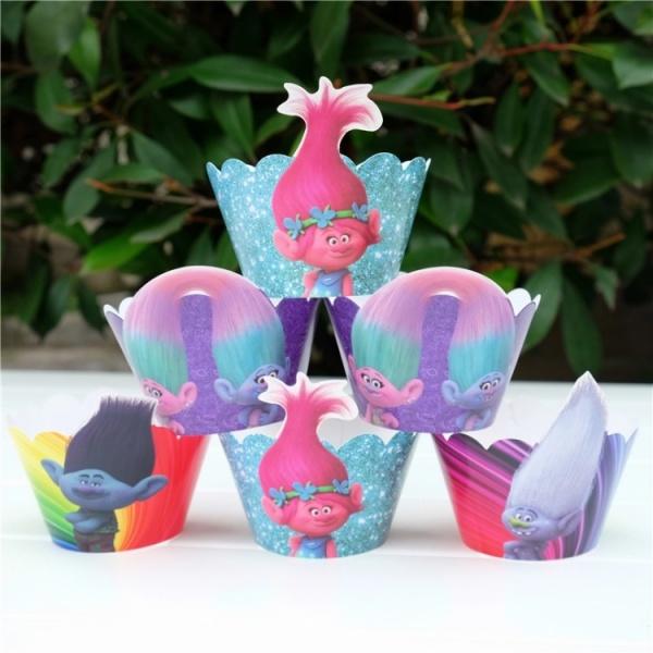 Bilde av Trolls Cupcake wrappers, 12 stk
