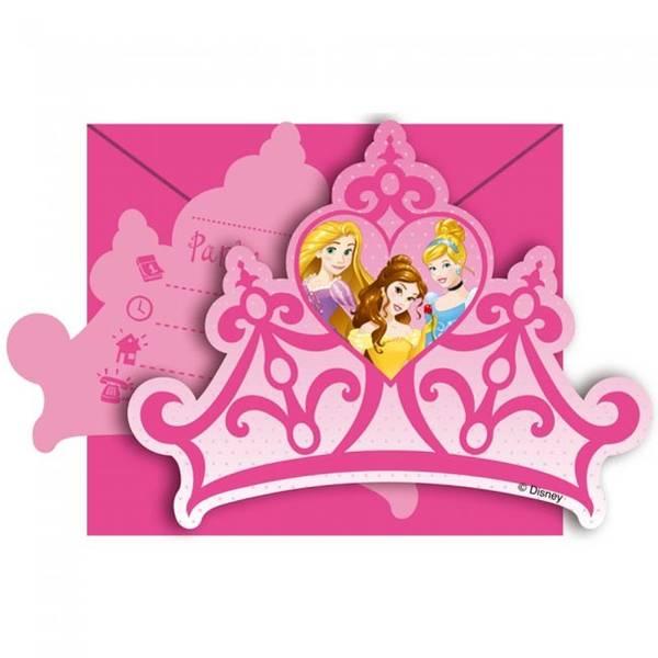 Bilde av Disney Prinsesse, Invitasjoner 6 stk