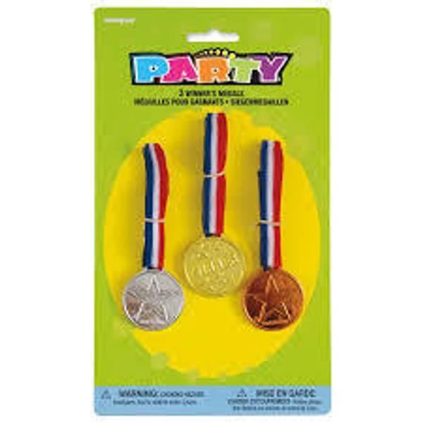 Bilde av Medaljer - Gull, Sølv og Bronse, 3 stk