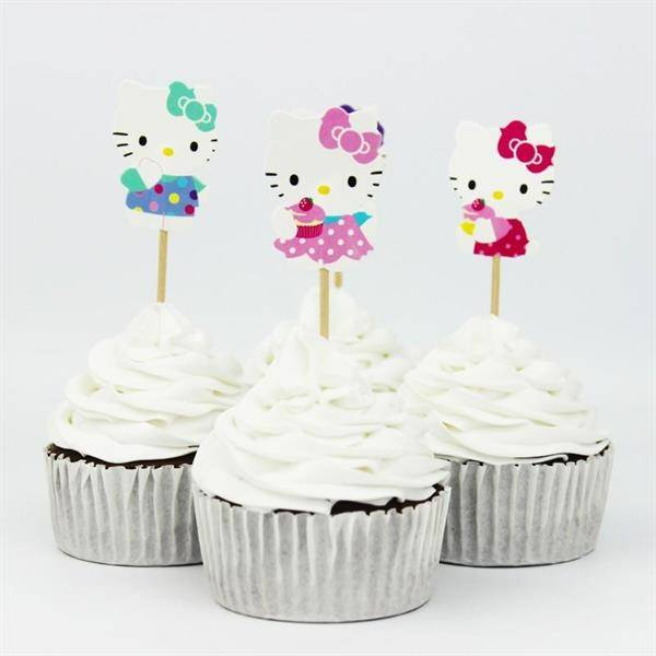 Bilde av Hello Kitty, toppers 2, 12stk