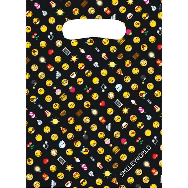 Bilde av Emoji Smiley Godteposer, svart, 8 stk.