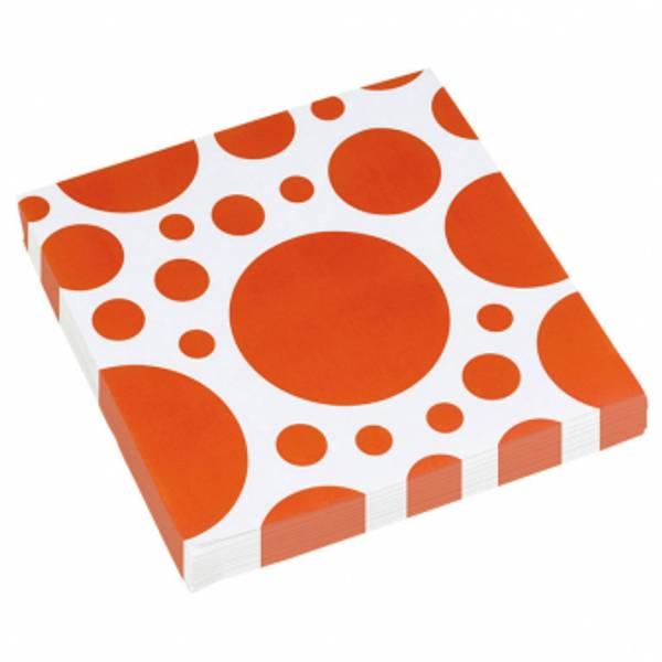 Bilde av Oransje Servietter med Store Prikker