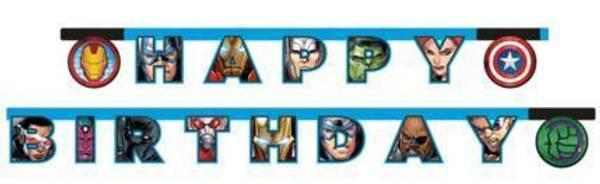 Bilde av Avengers, Happy Birthday Banner
