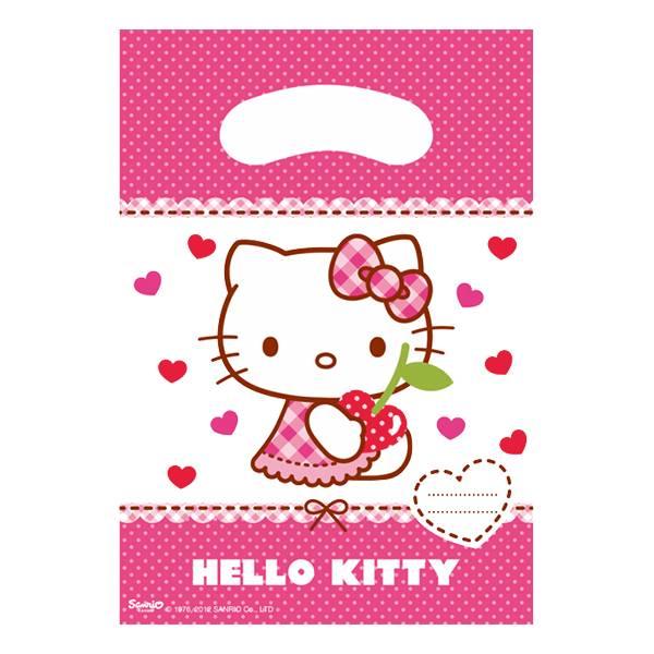 Bilde av Hello Kitty Godteposer, 6 stk