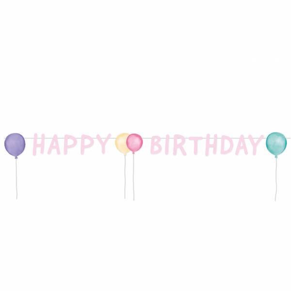 Bilde av Pastell, Happy Birthday, Banner, 1,5m