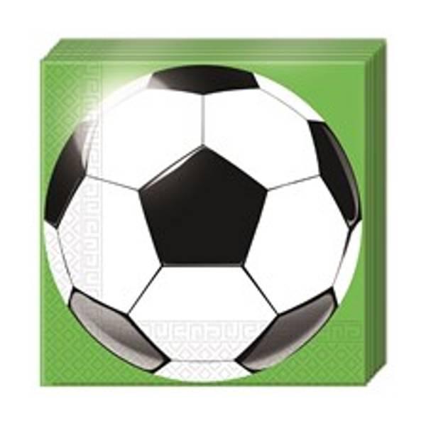 Bilde av Fotball Servietter, 16 stk
