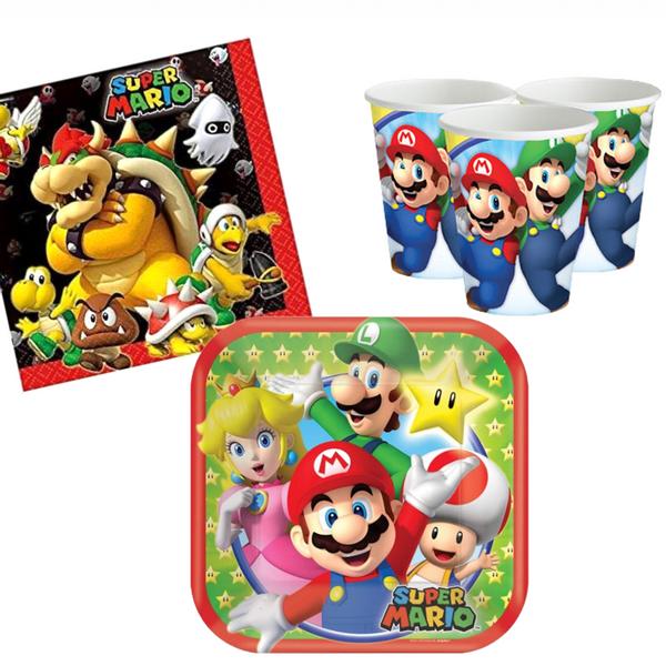 Bilde av Super Mario, Basis Bursdagspakke, for 16 personer