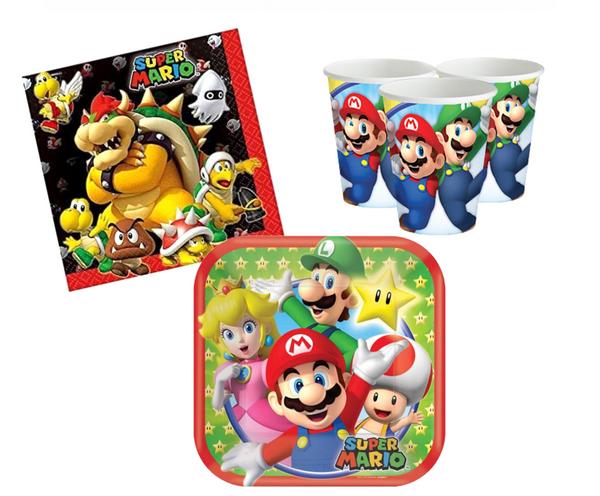 Bilde av Super Mario, Basis Bursdagspakke, for 8 personer