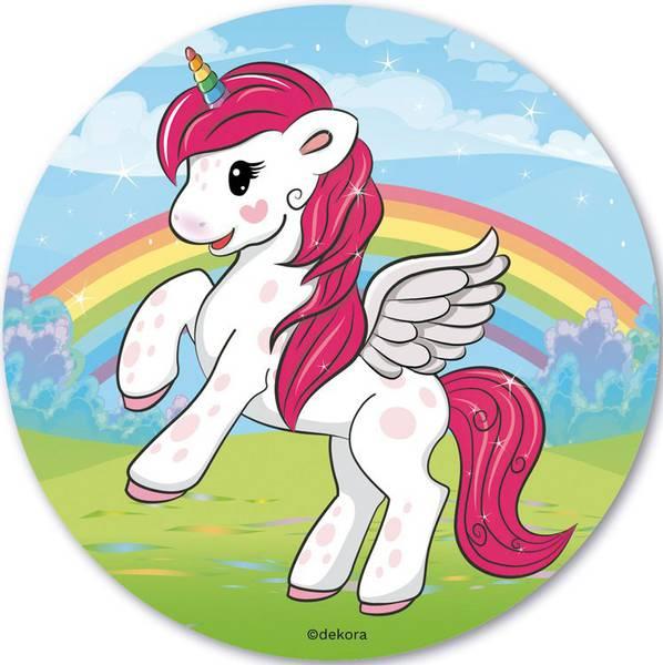 Bilde av Unicorn Kakebilde variant 2, Sukkerpapir, 20 cm