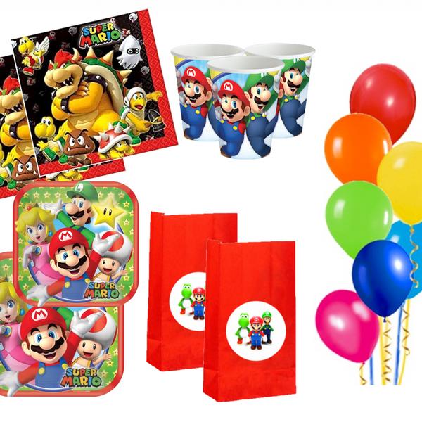 Bilde av Super Mario Party Bursdagspakke 16 Pers.