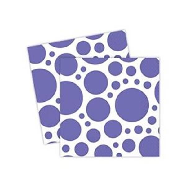 Bilde av Lilla Servietter med store prikker