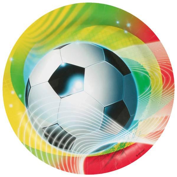 Bilde av Fargerik Fotball, Tallerk, 8 stk