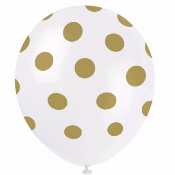 Bilde av Prikkete Gull Ballonger 30 cm