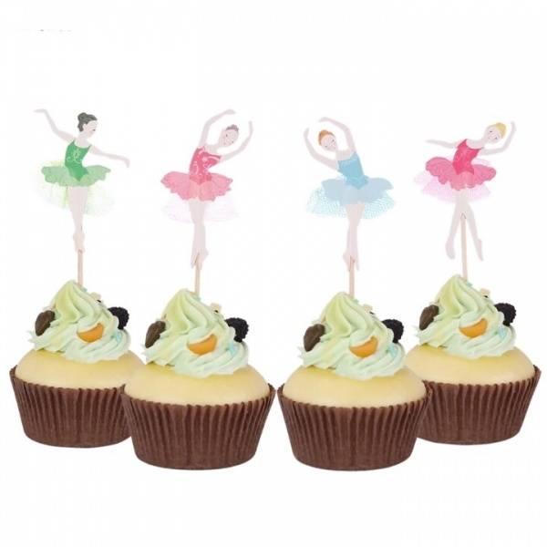 Bilde av Ballerina Cupcake Toppers, 8 stk