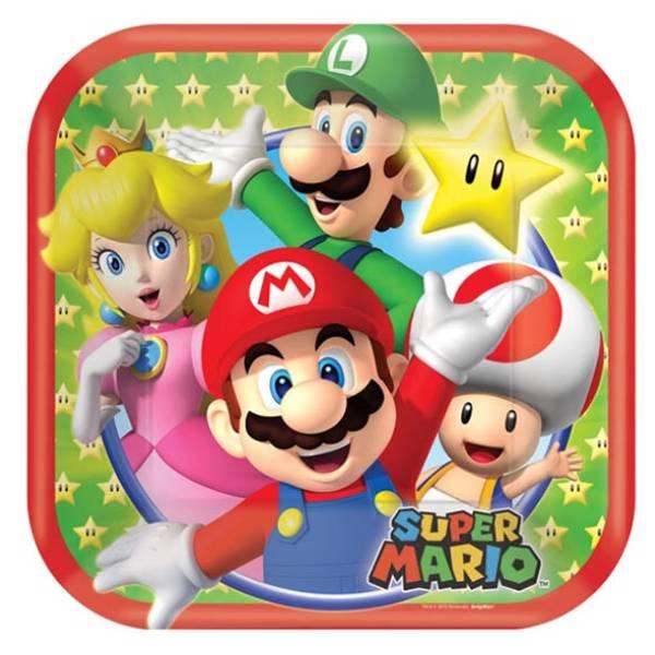 Bilde av Super Mario, Asjetter, 8 stk