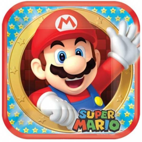 Bilde av Super Mario, Tallerker, 8stk