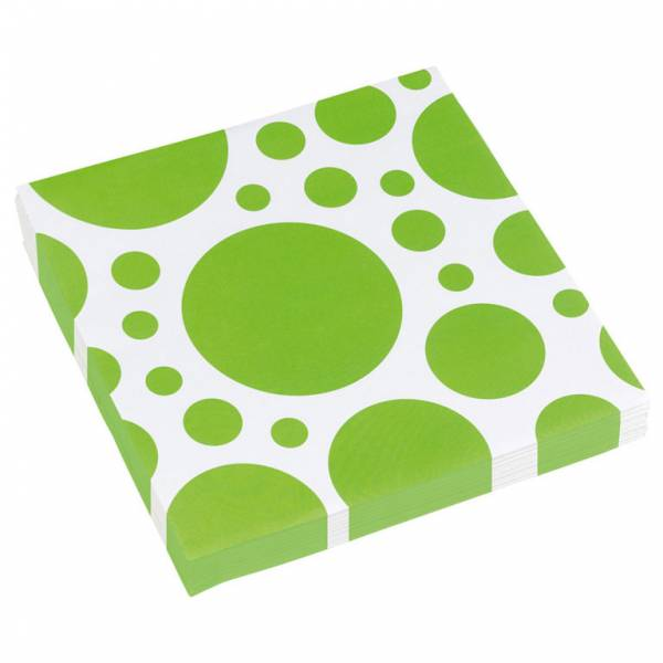 Bilde av Grønne Servietter med Store Prikker