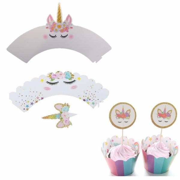 Bilde av Enhjørning Cupcake Wrappers, 3 typer