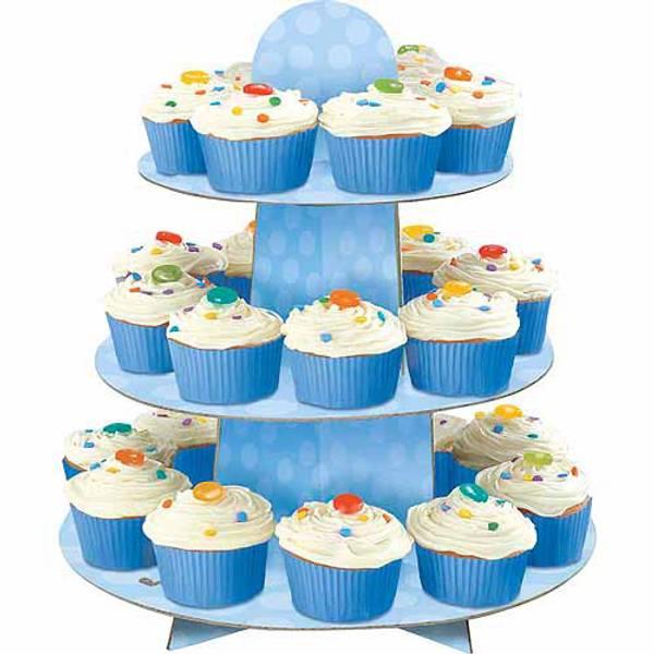 Bilde av Blått Cupcake Stativ, 30 cm