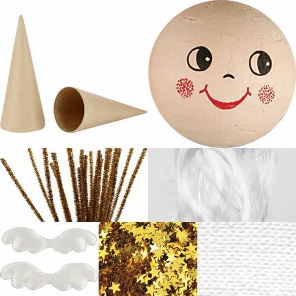Bilde av Hobbypakke Jul, Bruk fantasien, 2 Store engler