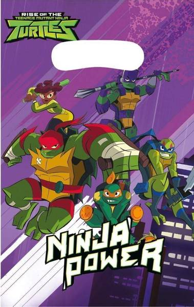 Bilde av Rise of the Ninja Turtles, Godteposer, 8Stk