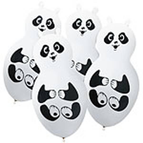 Bilde av Latex Panda Ballonger, 4 stk