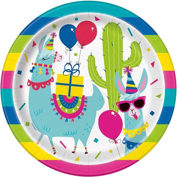 Bilde av Llama Party Tallerken, 8 stk
