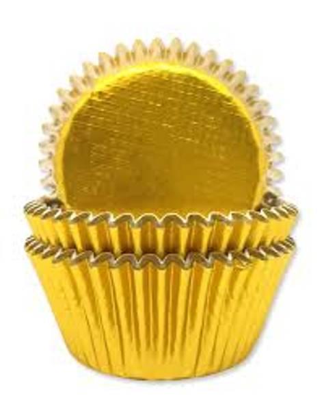 Bilde av Muffinsformer, Gull 45 stk