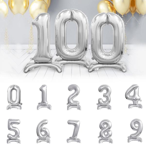 Bilde av Tallballong Sølv 0-9 Stående