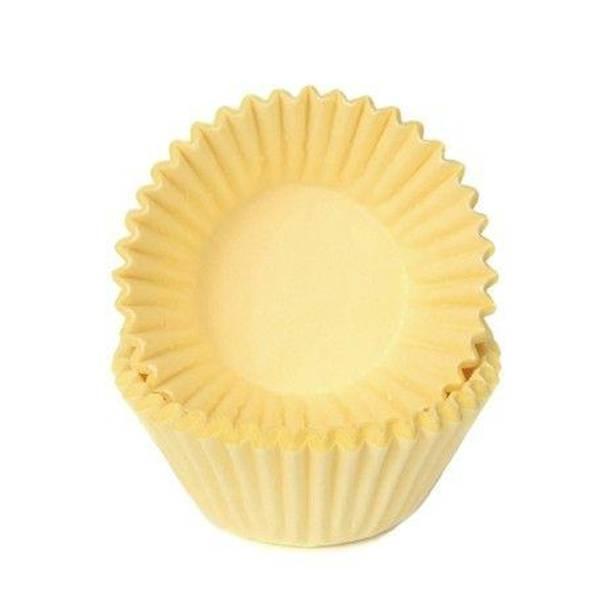 Bilde av Gule, Mini Muffinsformer, 100 stk