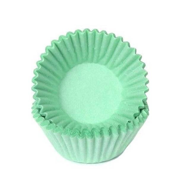 Bilde av Grønn, Mini Muffinsformer, 100 stk