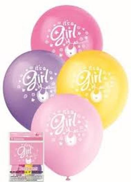 Bilde av It's a girl, Ballonger 8 stk