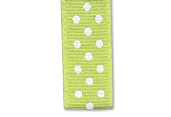Bilde av Prikkete bånd 10mm – 34 Lys grønn – 1m