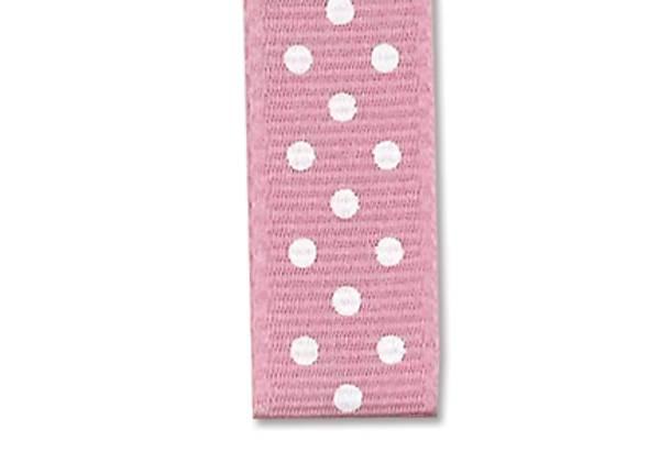 Bilde av Prikkete bånd 10mm – 43 Lys rosa – 1m