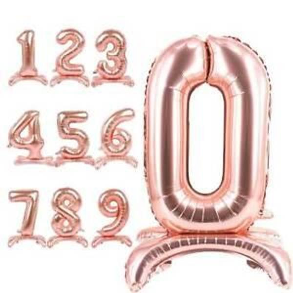 Bilde av Tallballong Rosegull 0-9 Stående