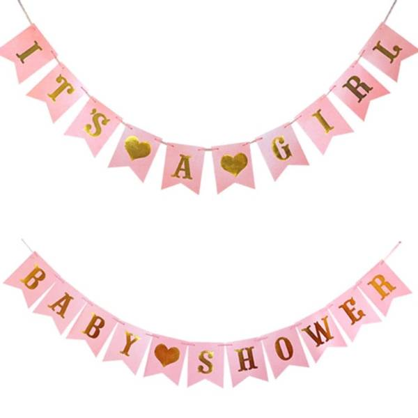 Bilde av Its A Girl Babyshower Banner