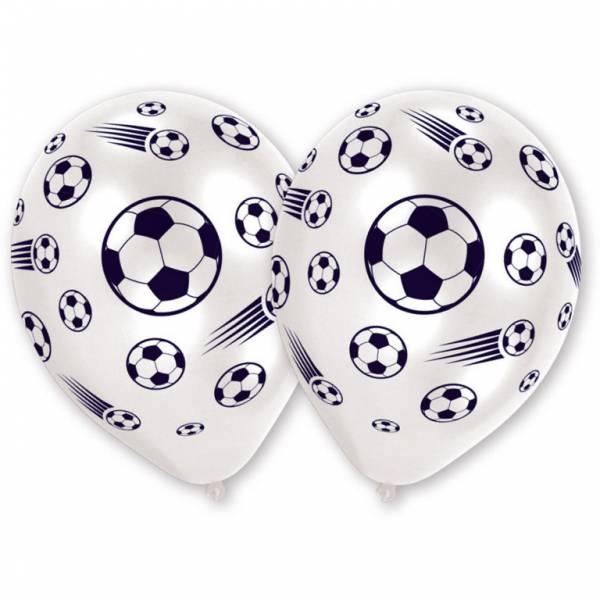 Bilde av Hvit Fotball Ballong, 8 stk